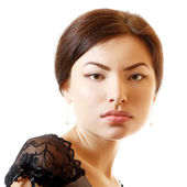 Beautiful face of young woman — Stock Photo