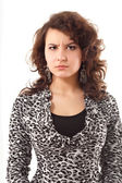 Young angry woman — Stock Photo