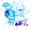 Stained blue watercolor art background — Stock Photo