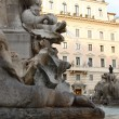 Stock Photo: Fountain before Pantheon
