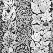 Vintage abstract flowers textiles fabric — Stock Photo