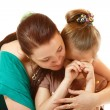 Mother console her crying daughter — Stock Photo #38401357