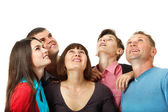 People happy looking up — Stock Photo