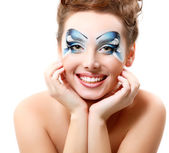 Woman with beautiful water makeup — Stock Photo