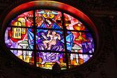 Vidriera en la iglesia — Foto de Stock