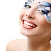 Woman with beautiful water makeup — Stock Photo