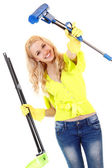 Young woman housewife — Stock Photo