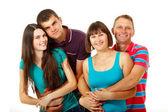 Happy two generation family — Foto de Stock