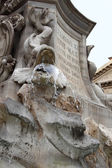 Fountain before Pantheon in Rome — Zdjęcie stockowe