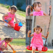 Stock Photo: Little girl playing in the park