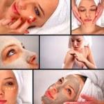 Spa treatment collage — Stock Photo