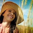 Young womwith sun hat — Stock Photo #12079566
