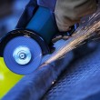 Angle grinder cutting steel — Stock Photo #27275151