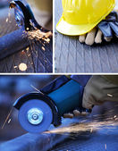 Construction work collage — Stock Photo
