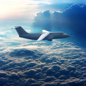 Commercial plane in the sky — Stock Photo
