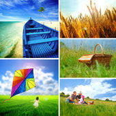 Summer collage — Stock Photo