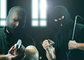 Masked thieves — Stock Photo