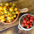 Stock Photo: Red and yellow cherry tomatoes