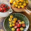 Red and yellow cherry tomatoes — Stock Photo #30965725