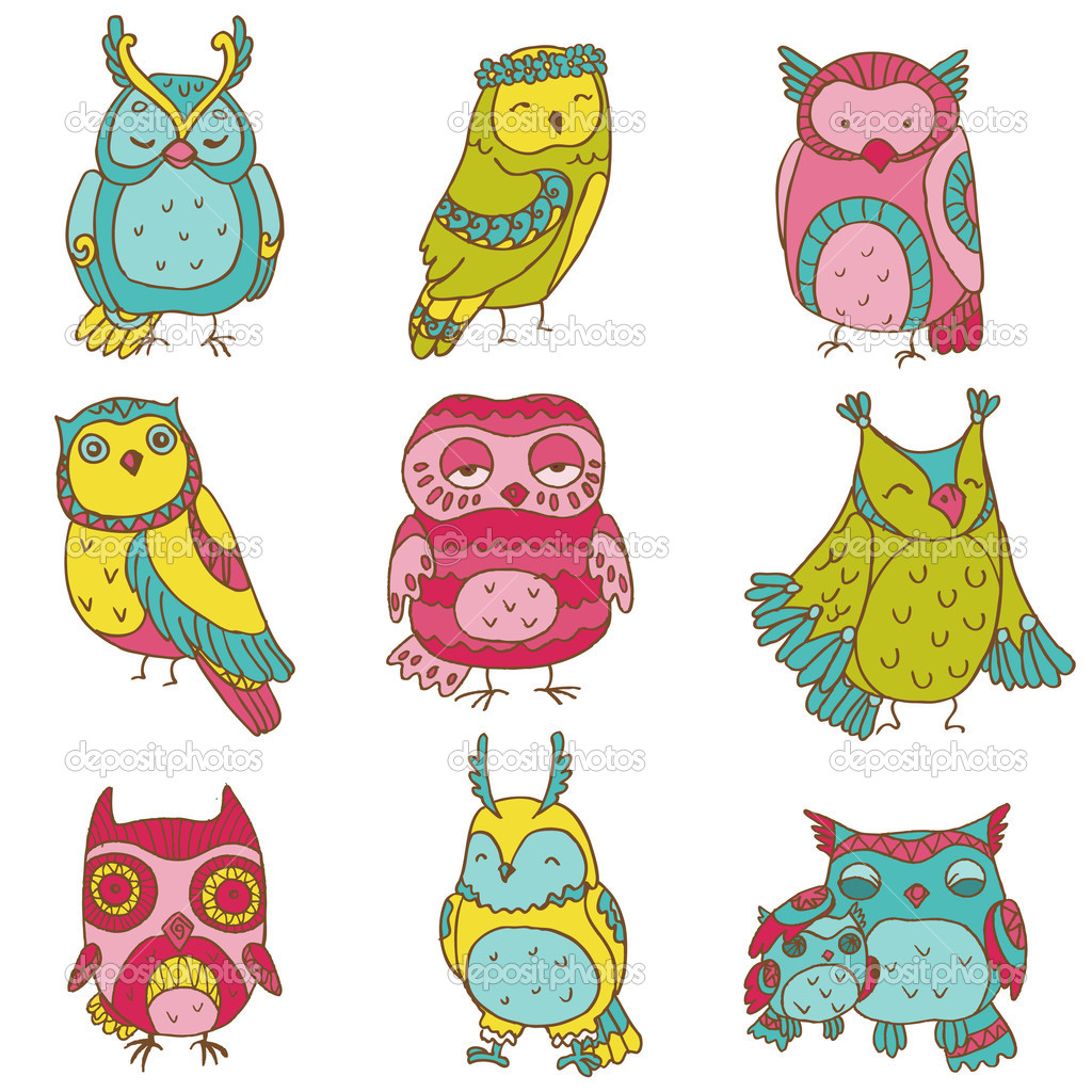 Owl Doodle Drawing Various Owl Doodle Collection
