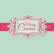 Retro Christmas Card - for scrapbook, design, invitation — Stock Vector #12460405