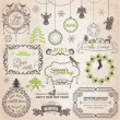 Royalty-Free Stock Vector Image: Vector Set: Christmas Calligraphic Design Elements and Page Deco