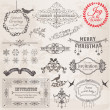 Vector Set: Christmas Calligraphic Design Elements and Page Deco — Stock Vector #12624970