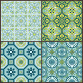 Seamless Vintage Background Collection - Victorian Colorful Tile — Stock Vector