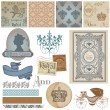 Scrapbook Design Elements - Vintage Royalty Set - in vector — Imagens vectoriais em stock