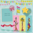 Stok Vektör: Scrapbook Design Elements - Vintage Child Set - in vector
