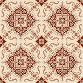 Seamless Vintage Background - Victorian Tile in vector — Stock Vector
