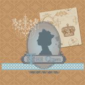 剪贴簿设计元素-复古皇室在向量中设置 — 图库矢量图片