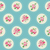 Seamless Vintage Flower Background - for design and scrapbook — Stock Vector
