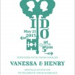 Wedding Invitation Card - Key Theme - in vector — Stock Vector