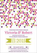 Cartão colorido convite de casamento - vetor — Vetor de Stock
