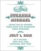 Wedding Vintage Invitation Card - in vector — Stock Vector