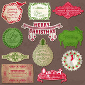 Christmas Calligraphic Design Elements and Vintage Frames - in v — Stock Vector