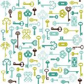 Starožitný klíče pozadí - pro váš návrh nebo scrapbook - v vect — Stock vektor