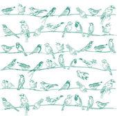 Sfondo senza soluzione di continuità di uccelli - per design e scrapbook - in vettoriale — Vettoriale Stock