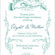Wedding Vintage Invitation Card - in vector — Stock Vector #13461314