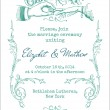 Wedding Vintage Invitation Card - in vector — Stock Vector