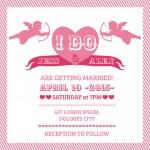 Wedding Angel Invitation Card - in vector — Stock Vector #13876318