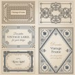 Vintage frames and design elements - with place for your text - — Stock Vector