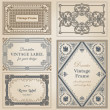 Vintage frames and design elements - with place for your text - — Stok Vektör