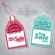 Stock Vector: Christmas Sale Tags - for design and scrapbook - in vector