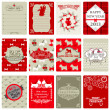 Set of Vintage Christmas Tags - for design or scrapbook - in vec — Stock Vector #13876479