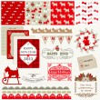 Scrapbook Design Elements - Vintage Christmas Dog - in vector - Stock Vector