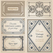 Vintage frames and design elements - with place for your text - — 图库矢量图片