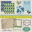 Royalty-Free Stock Vector Image: Scrapbook Design Elements - Vintage Peacock