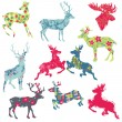 Royalty-Free Stock : Set of Reindeer Christmas Silhouettes - for your design or scrap